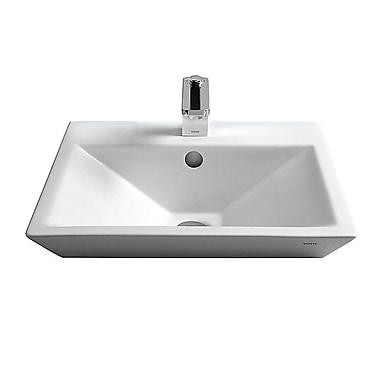 Toto Kiwami Square Vessel Bathroom Sink; Single Hole