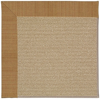 Capel Zoe Brown Indoor/Outdoor Area Rug; Rectangle 7' x 9'