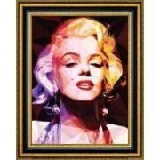 CanvasArtUSA 'Marilyn' by Enrico Varrasso Framed Memorabilia Painting Print