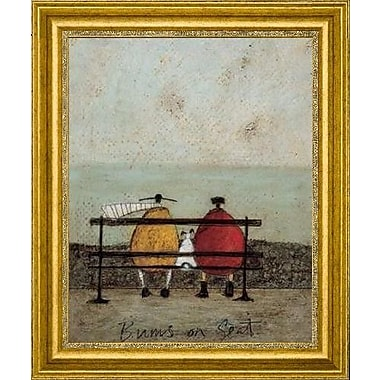 CanvasArtUSA 'Bums On Seat' by Sam Toft Framed Painting Print; 21'' H x 18'' W x 1.25'' D