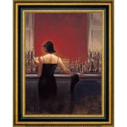 CanvasArtUSA 'Evening Lounge' by Brent Lynch Framed Painting Print; 19.5'' H x 23.5'' W x 1.25'' D