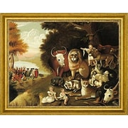 CanvasArtUSA 'A Peaceable Kingdom' by Edward Hicks Framed Painting Print; 22'' H x 26'' W x 1.25'' D