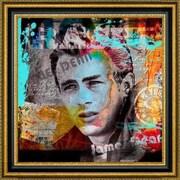 CanvasArtUSA 'James Dean' by Micha Baker Framed Memorabilia Painting Print