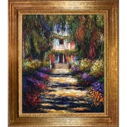Wildon Home   Garden Path at Giverny by Claude Monet Framed Painting