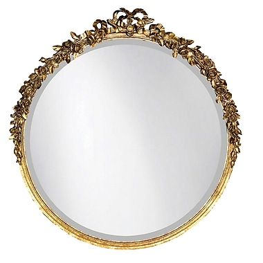 Hickory Manor House Round Rose Mirror; Gold Leaf