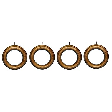 Hickory Manor House Drapery Curtain Rings (Set of 4); 3'' H x 3'' W x 0.5'' D