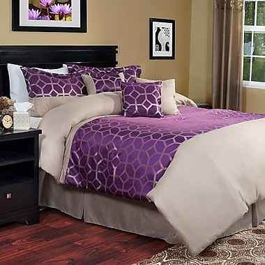 Hallmart Collectibles Aria 7 Piece Comforter Set; Queen