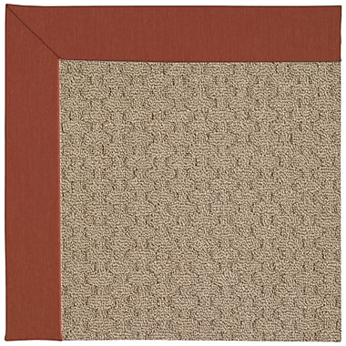Capel Zoe Grassy Mountain Machine Tufted Persimmon/Brown Indoor/Outdoor Area Rug; Rectangle 7' x 9'