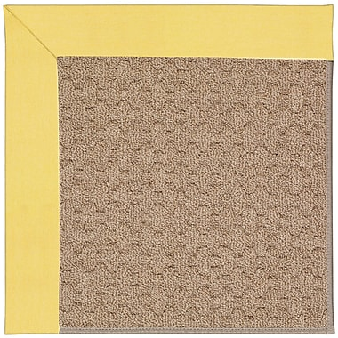 Capel Zoe Grassy Mountain Machine Tufted Yellow/Brown Indoor/Outdoor Area Rug; Square 6'
