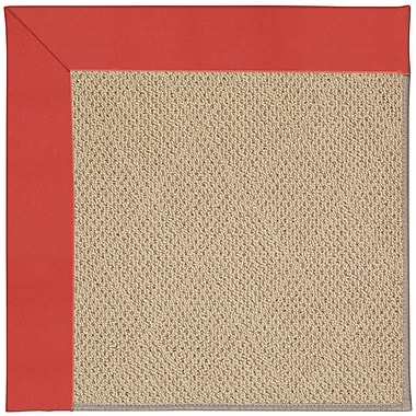 Capel Zoe Machine Tufted Sunset Red/Brown Indoor/Outdoor Area Rug; Square 8'