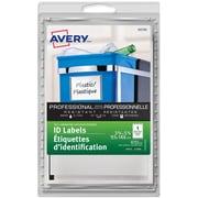 Avery® - Étiquettes auto-plastifiant (00745), bord gris, 3 3/4 po x 5 3/4 po, paq./4