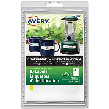 Avery® Assorted Border Self-Laminating Labels, 2/3