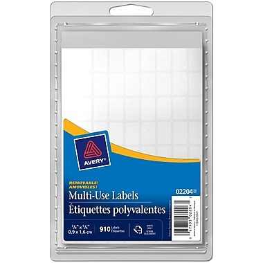 Avery® White Removable Multiuse Labels, 5/8