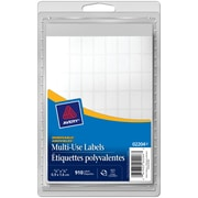 "Avery® White Removable Multiuse Labels, 5/8"" x 3/8"", 910/Pack, (02204)"
