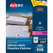 Avery® - Étiquettes d'adresses de retour Easy Peel® blanches pour imprimantes laser