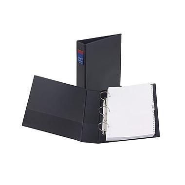 Avery® – Reliure de présentation durable à anneaux ronds, format légal, 2 po, noir