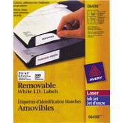 "Avery® White Laser/Inkjet Removable Address Label, 2-5/8"" x 1"", 300/Pack, (06498)"