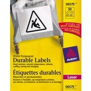 "Avery® 6575 Étiquettes d'identification durables blanches, laser, 8-1/2"" x 11"", 50/pqt"