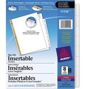 Avery® – Intercalaires très larges Big Tab™insérables pour jet d'encre et laser, 8 onglets, transparent (11124)