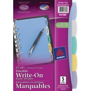 Avery® – Intercalaires marquables durables 16180, multicolore, 5 1/2 po x 8 1/2 po, ens./5 onglets