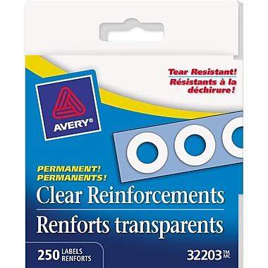 Avery® - Renforts autoadhésifs, transparents, paq./250