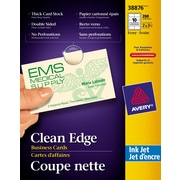 """Avery® Clean Edge Inkjet Business Cards, 3-1/2"""" x 2"""", Ivory, 200/Pack, (38876)"""