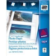 "Avery® 78628 Protège-photos 4"" x 6"", transparents, 10/paquet"