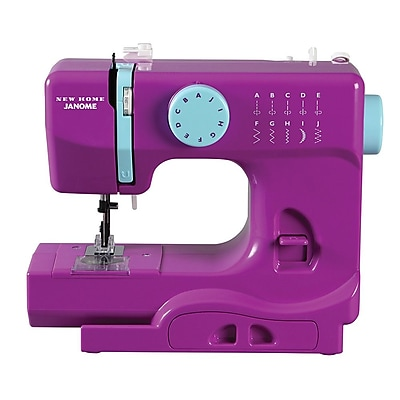 Janome Janome Portable Easy-to-Use 5-Pound Mechanical Sewing Machine; Purple