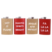 DEI Sparkle and Shine Glitter Sayings Flask Set