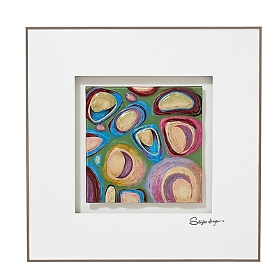Majestic Mirror Vibrant Colorful Square Abstract 3D Glass Painting Print