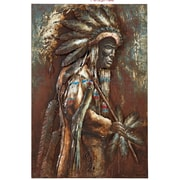 Majestic Mirror Large Native American Indian Mixed Media Painting Print Plaque