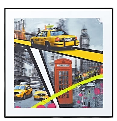Majestic Mirror London Phone Booth Square Framed Graphic Art on Canvas