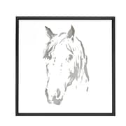 Majestic Mirror Square Abstract Horse Mirror Framed Painting Print on Canvas