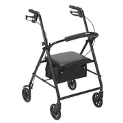"Rollator with 6"" Wheels, Black"