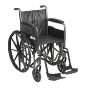 """Silver Sport 2 Wheelchair, Detachable Full Arms, Swing away Footrests, 18"""" Seat"""