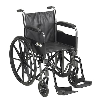 Silver Sport 2 Wheelchair, Detachable Full Arms, Swing away Footrests, 16