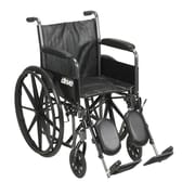 """Silver Sport 2 Wheelchair, Detachable Full Arms, Elevating Leg Rests, 18"""" Seat"""