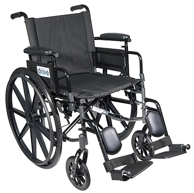 Cirrus IV Lightweight Dual Axle Wheelchair with Adjustable Arms, Detachable Desk Arms, Elevating Leg Rests, 18