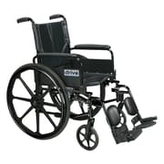 "Cirrus IV Lightweight Dual Axle Wheelchair with Adjustable Arms, Detachable Full Arms, Elevating Leg Rests, 20"" Seat"