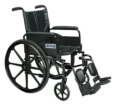 Cirrus IV Lightweight Dual Axle Wheelchair with Adjustable Arms, Detachable Full Arms, Elevating Leg Rests, 20