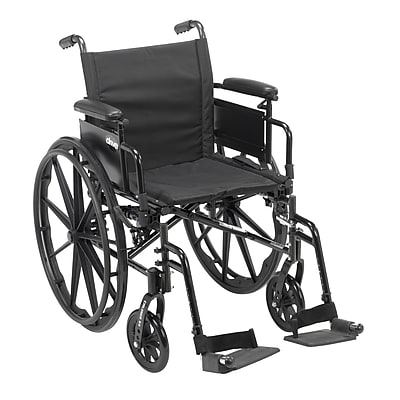 Cruiser X4 Lightweight Dual Axle Wheelchair with Adjustable Detachable Arms, Desk Arms, Swing Away Footrests, 18