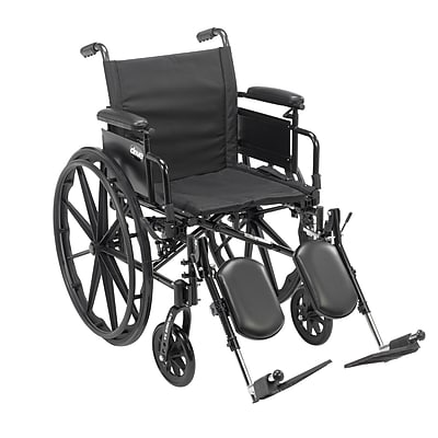 Cruiser X4 Lightweight Dual Axle Wheelchair with Adjustable Detachable Arms, Desk Arms, Elevating Leg Rests, 16