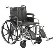 "Sentra Extra Heavy Duty Wheelchair, Detachable Adjustable Height Desk Arms, Elevating Leg Rests, 20"" Seat"
