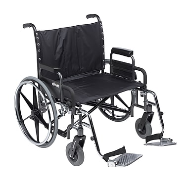Sentra Deluxe Heavy Duty Extra Extra Wide Wheelchair With Detachable Desk Arm Swing Away Footrests, 30