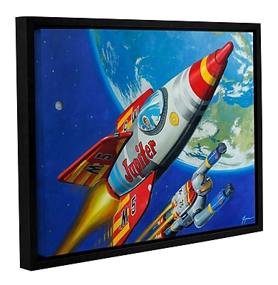 ArtWall 'Spacepatrol2' by Eric Joyner Framed Graphic Art on Wrapped Canvas; 36'' H x 48'' W