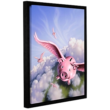 ArtWall 'Piggies' by Jerry Lofaro Framed Graphic Art on Wrapped Canvas; 24'' H x 18'' W