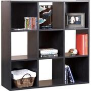 Mylex 36'' Cube Unit Bookcase; Black Oak