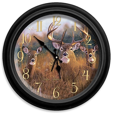 ReflectiveArt Classic Wildlife 16'' The Buck Stops Here Wall Clock