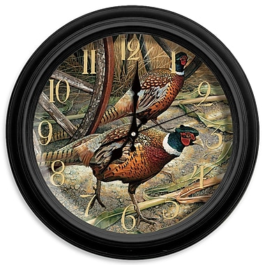 ReflectiveArt Classic Wildlife 16'' Harvest Time Wall Clock