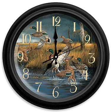 ReflectiveArt Classic Wildlife 16'' Fowl Weather Wall Clock
